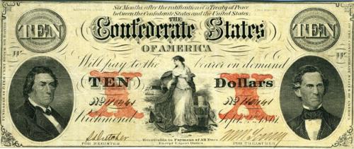 Confederate note