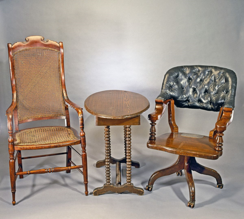 Chairs used by Grant and Lee