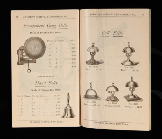 Circular shows a range of bells along with their prices