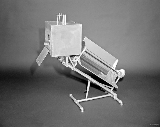 Contraption with square box and rectangle