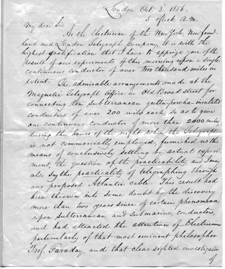 An old letter with cursive script