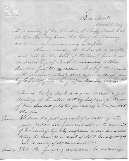 An old letter with script written in cursive