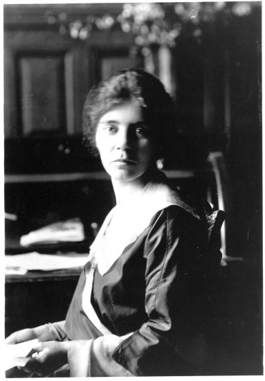 Alice Paul, seated