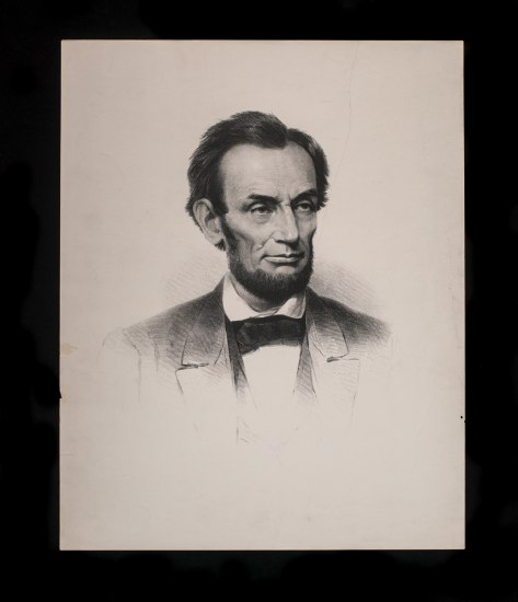 Portrait drawing of President Abraham Lincoln