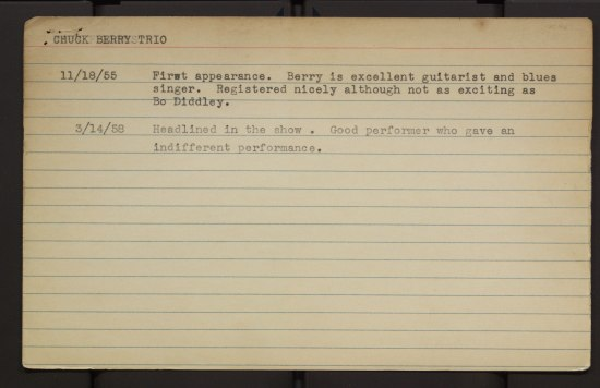 A lined index card with typed text on it