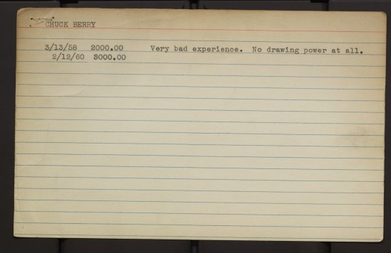 A lined index card with typed text.