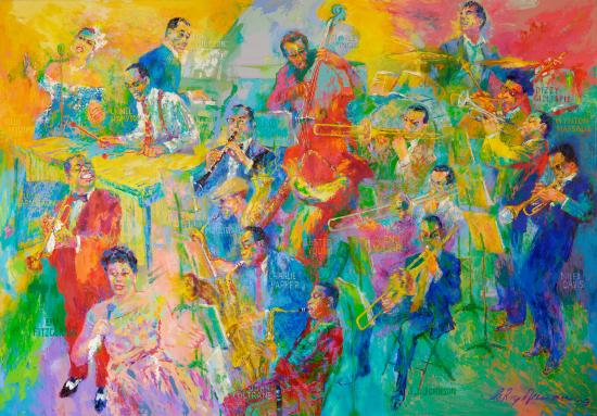 """Big Band"" painting"