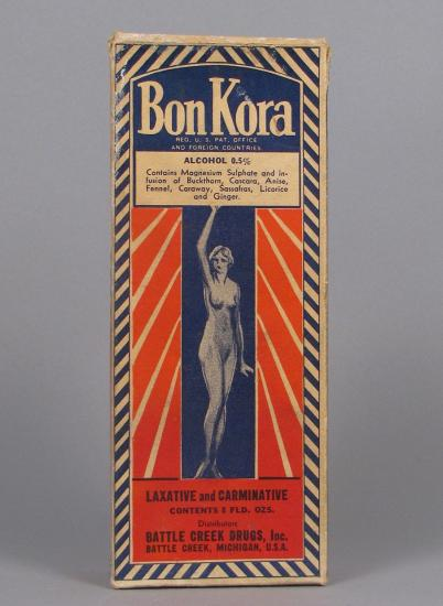 Box of Bon Kora, laxative and carminative with Epsom salts and ginger