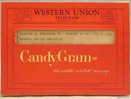 Western Union candygram