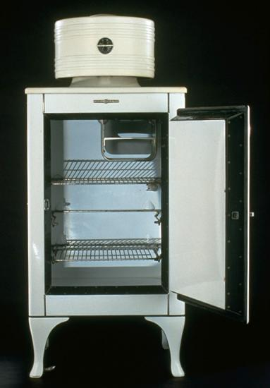 A Monitor top refrigerator from the 1930s