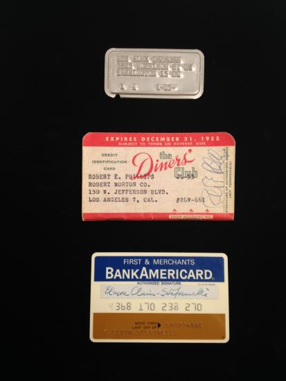 Three early credit cards