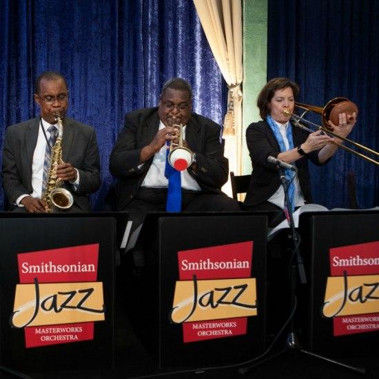 Trio of jazz musicians