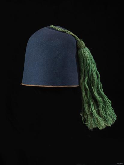 Blue fez with tassel