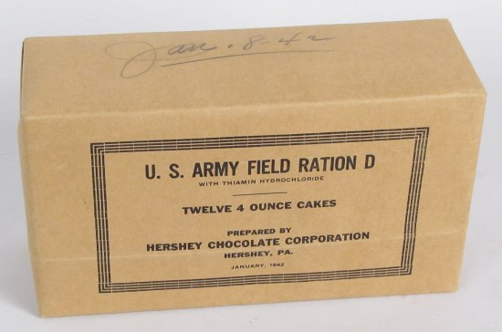 Box for U.S. Army Field Ration D (