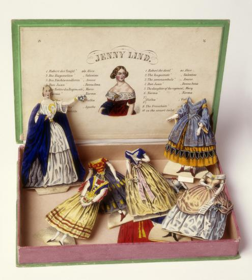 Box of paper dolls
