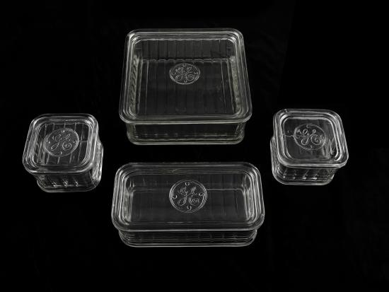 General Electric stackable glass dishes