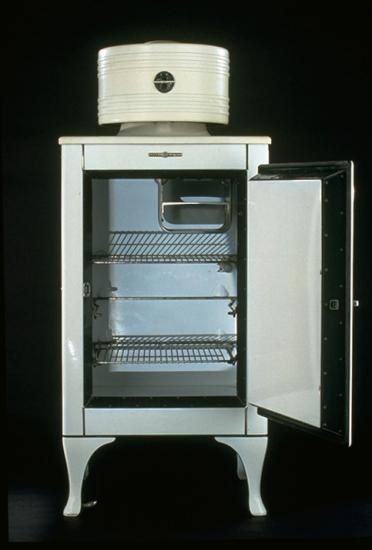 A General Electric Monitor top refrigerator, 1930s