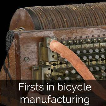 Firsts in bicycle manufacturing