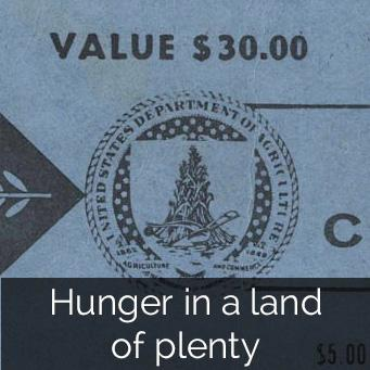 Hunger in a land of plenty