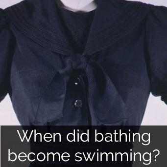 When did bathing become swimming?