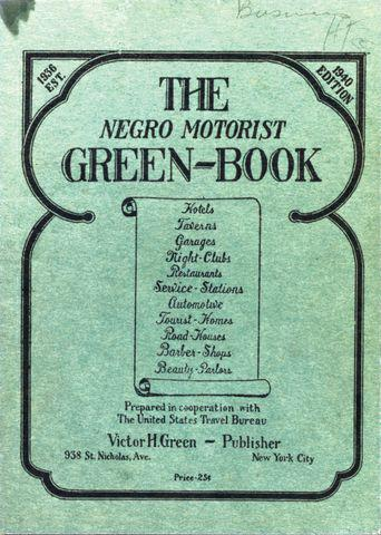Photograph of the cover of the 1940 Negro Motorist Green Book.
