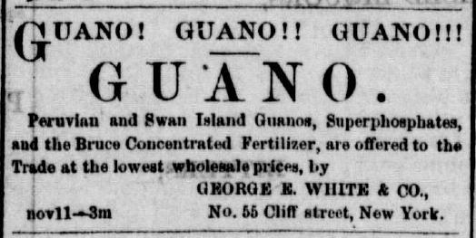 "Black and white all text add that says ""Guano! Guano! Guano!"""