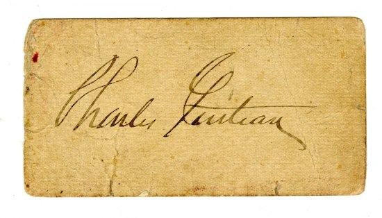 Paper card with signature of Charles Guiteau