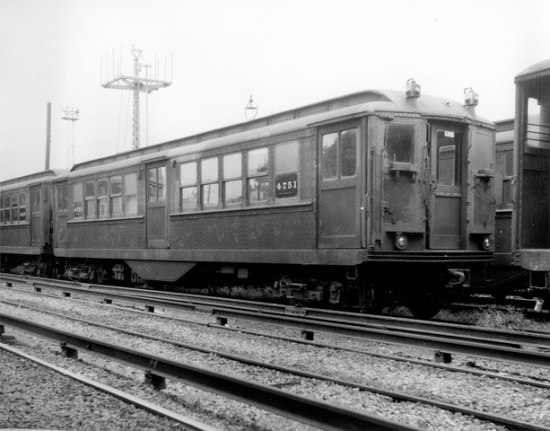 A subway train car, circa 1916.