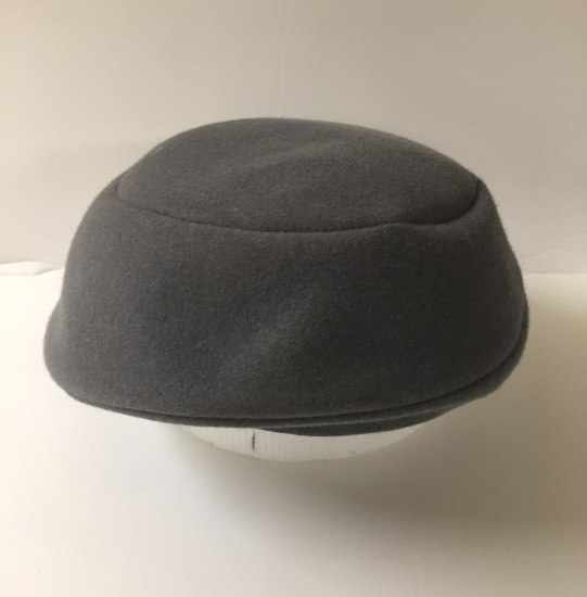 Gray cap with no brim