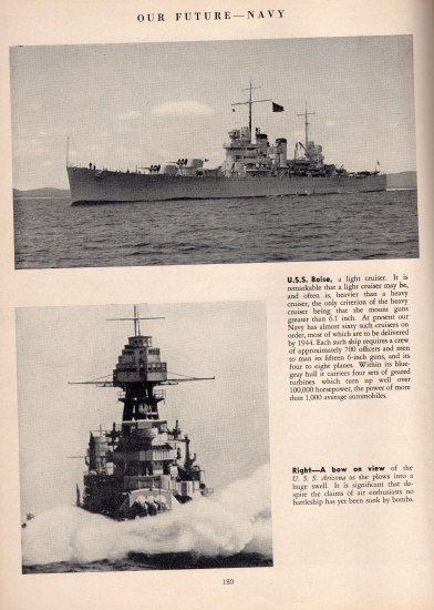 a page from the 1941 footbal program that show two pictures of ships with captions. One of them is the U.S.S. Arizona.