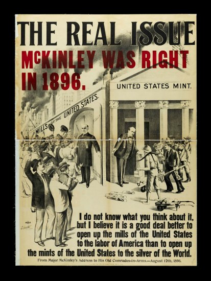McKinley campaign poster, 1900