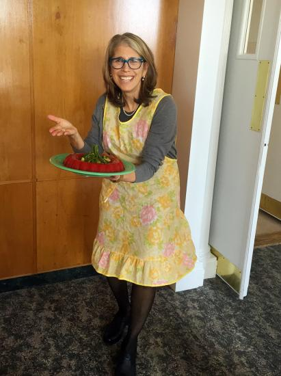 Team member Judy with her tomato aspic