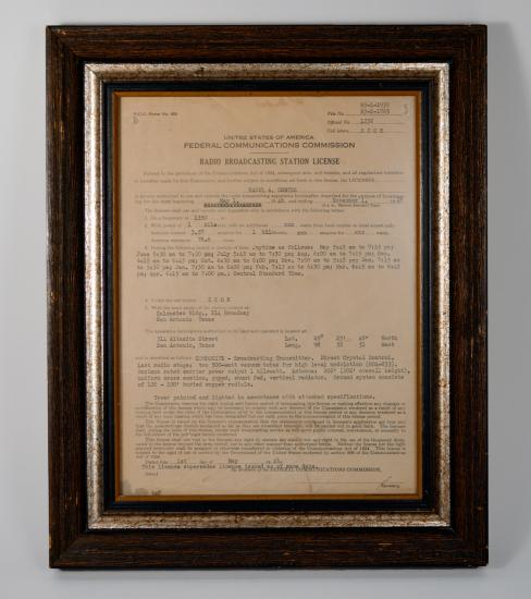 KCOR FCC License, 1948