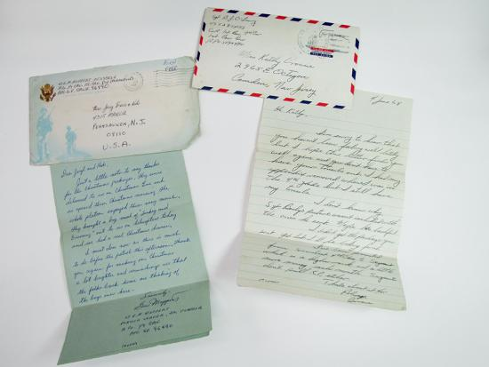 Two letters and their envelopes