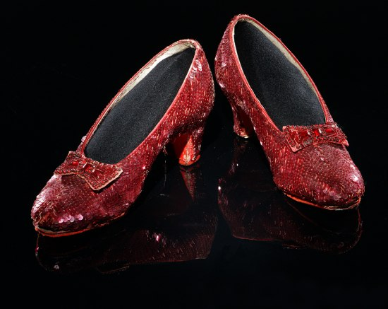 Photograph of the museum's ruby slippers