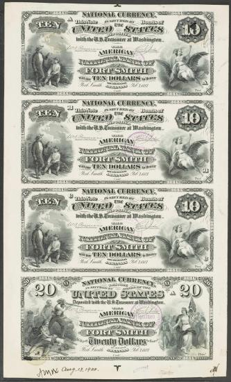 "Sheet of money, ""US Ten"""