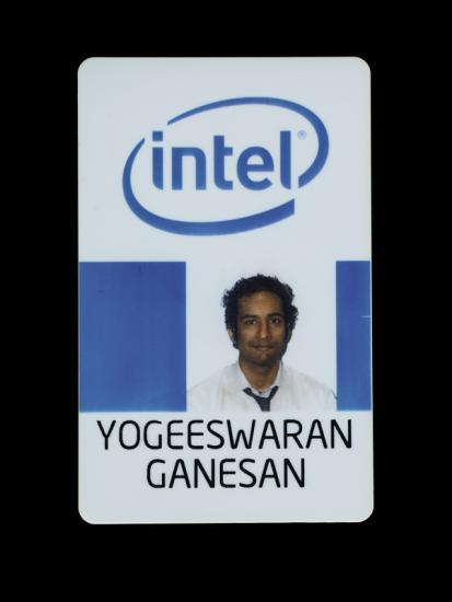 Photo of employee ID badge