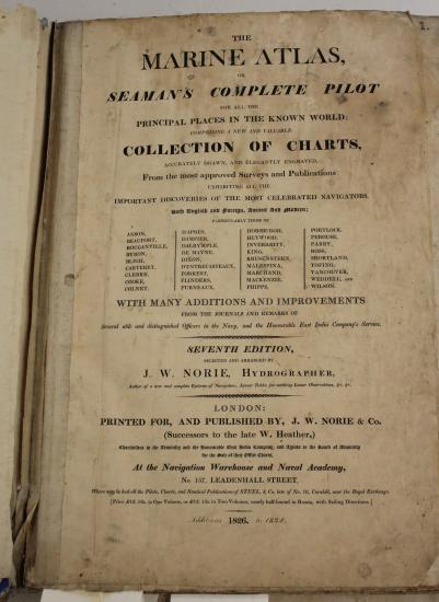 "Text on title page includes ""Seaman's Complete Pilot"""