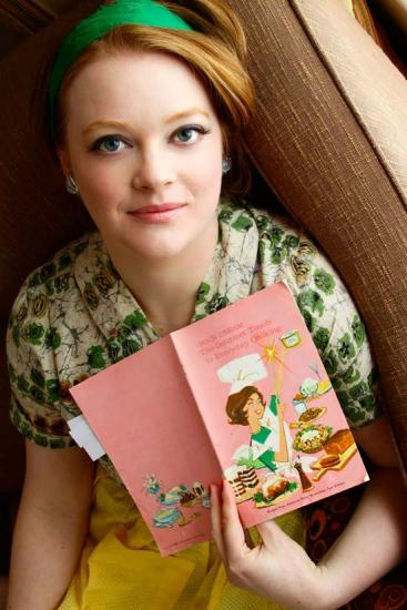Ruth with one of her mid-century cookbooks