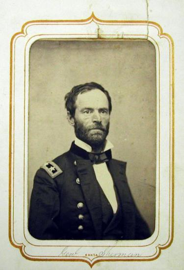 Portrait of Sherman in uniform, facing camera
