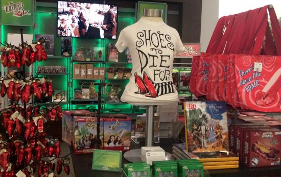 Ruby Slipper ornaments and t-shirt