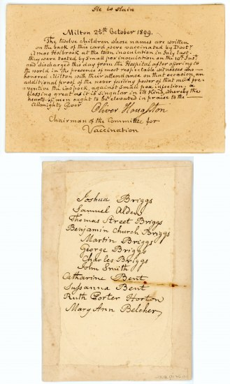 Front and back of document, handwritten