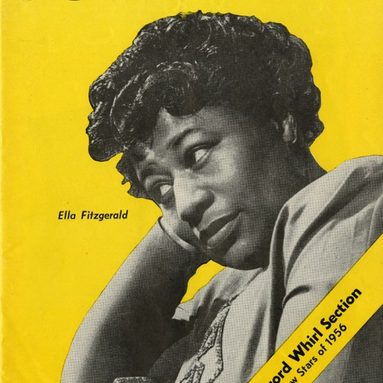 Ella Fitzgerald on yellow background