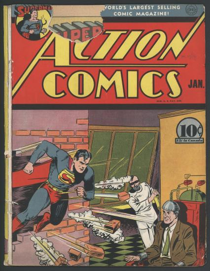 "This is an ""Action Comics"" Comic Book featuring Superman."