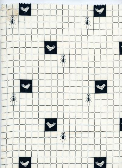 Checkbox pattern with ants and birds