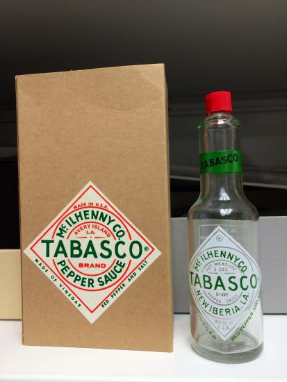 Limited edition Tabasco bottle produced for military, 1950s