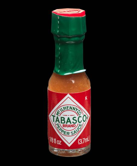 Photo of small Tabasco bottle