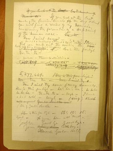 Notebook page of text