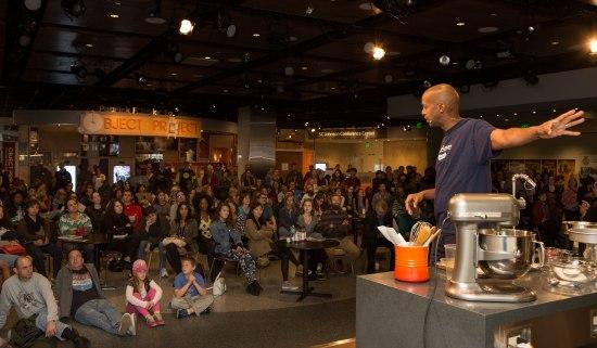 Warren Brown speaks to audience
