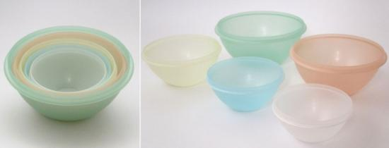 Wonderlier Tupperware nesting bowls, around 1954